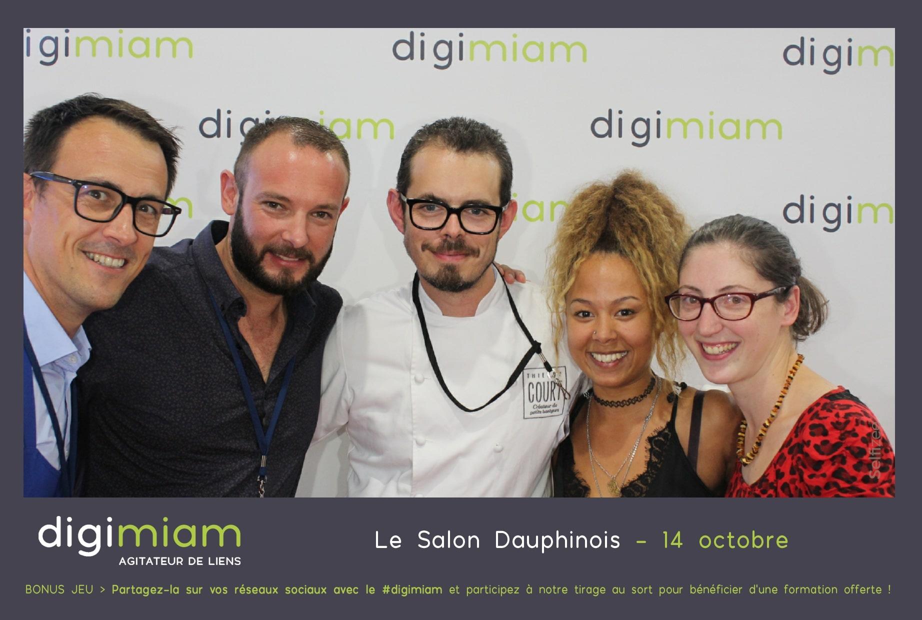 Borne selfie et animation photocall sur stand Digimiam au salon Dauphinois 2018 à Alpexpo Grenoble