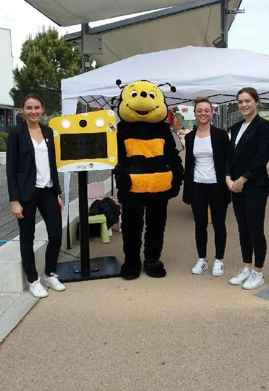 Animation photobooth et jeu concours loterie au jeu de piste du centre commercial Green7 Salaise sur Sanne avec photos gagnantes parmi les participants