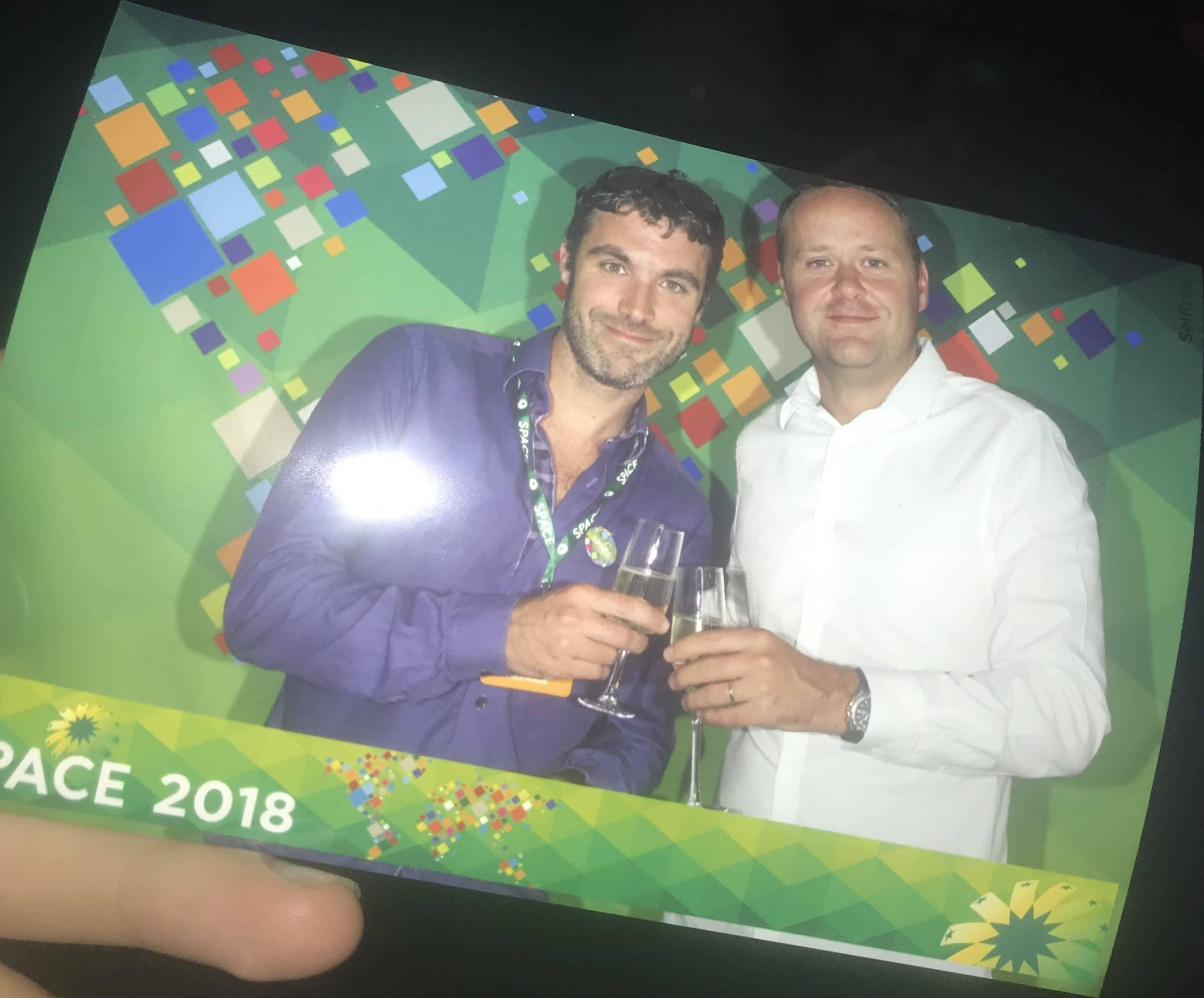 Photos personnalisées et imprimées instantanément au salon SPACE Rennes 2018 en Ille et Vilaine avec animation photobooth