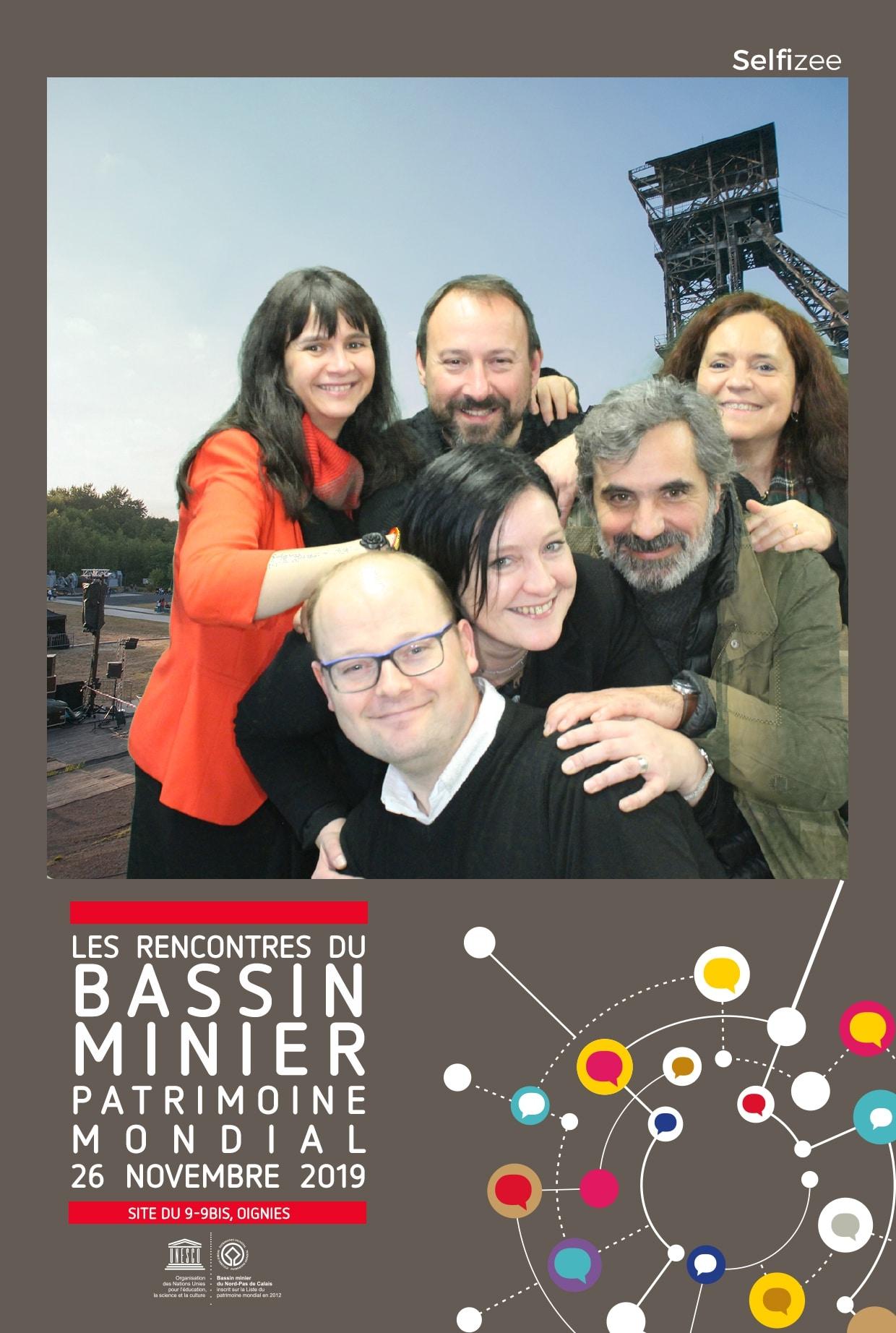 Animation photobooth et fond vert aux rencontres du bassin Minier à Oignies entre Lens et Lille pour photos personnalisées des participants