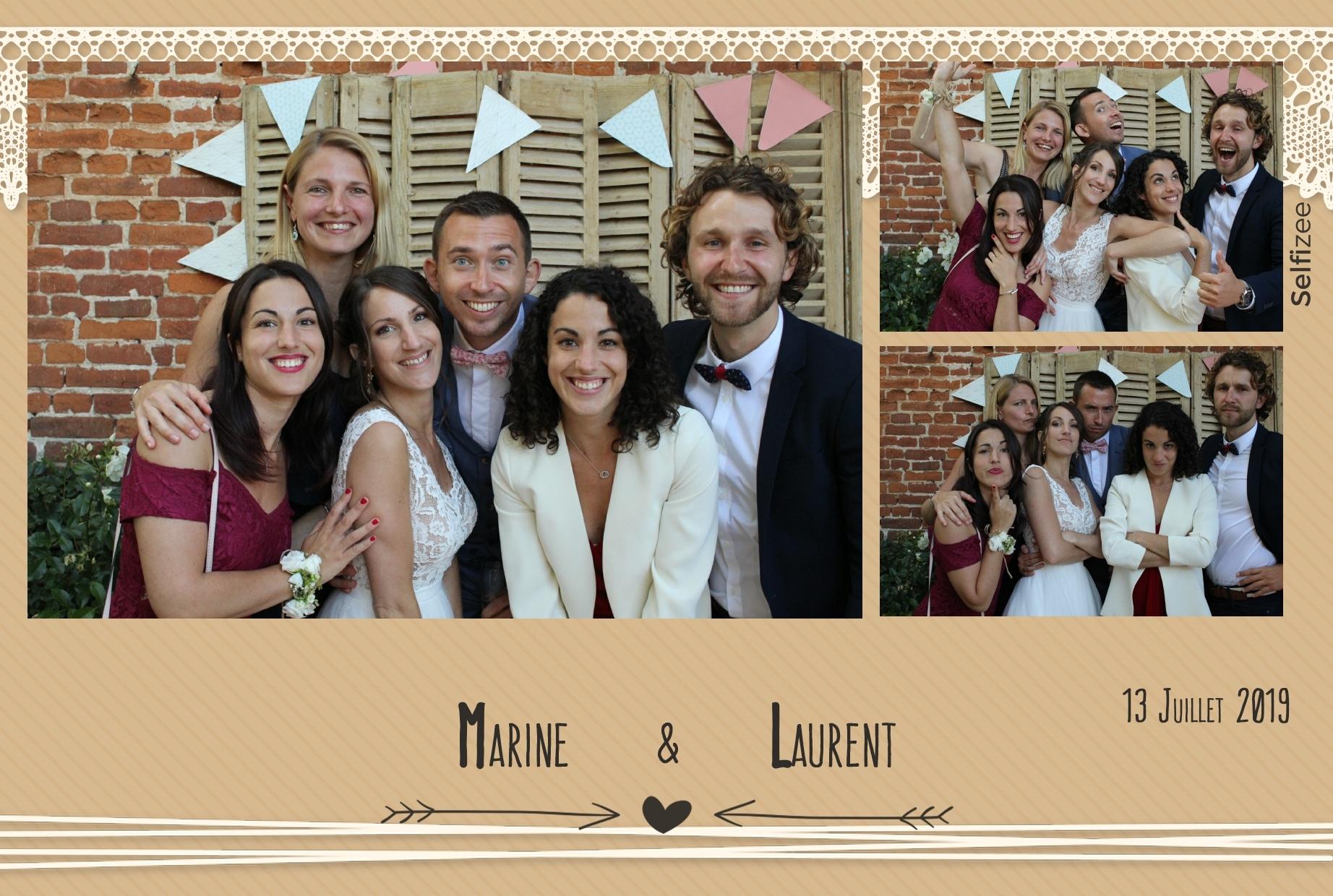 Photobooth animation selfie mariage à Rouen avec impressions photos immédiates