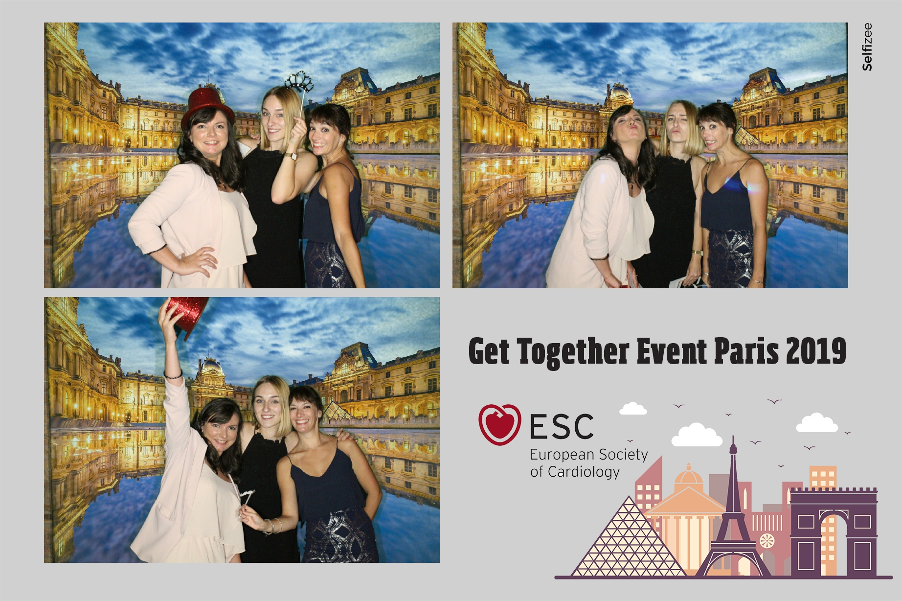 Borne selfie et animation fond vert photo European Society of Cardiology Paris 2019