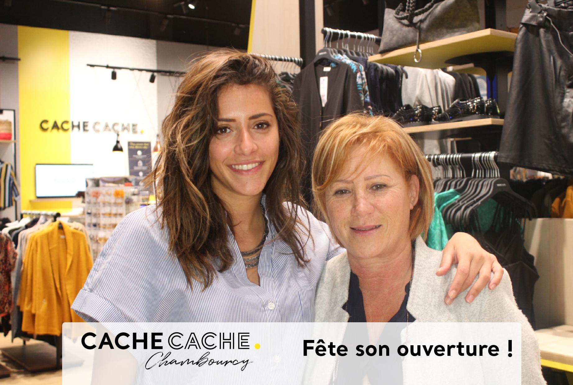 Animation photobooth inauguration magasin Cache Cache Chambourcy dans les Yvelines avec impressions selfies personnalisés pour les clients