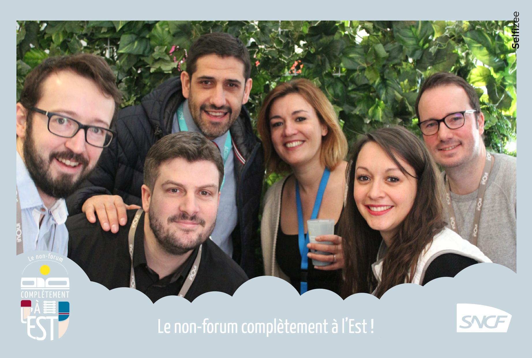 Selfie personnalisé animation borne photo événement interne direction régionale Grand Est SNCF Mobilités à Strasbourg