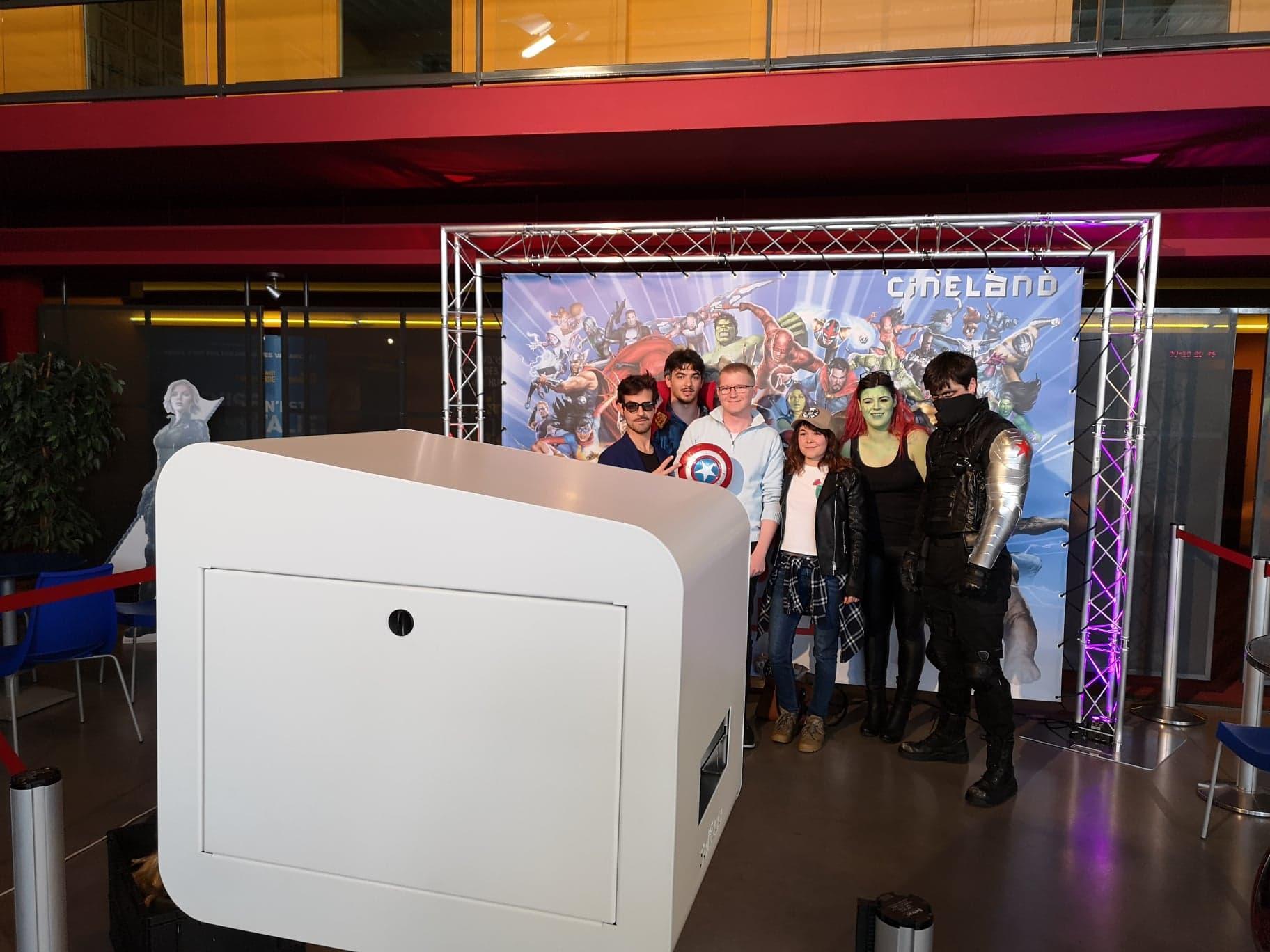 Animation box photo soirée cosplay Marvel Cinéland à Trégueux près de Saint Brieuc