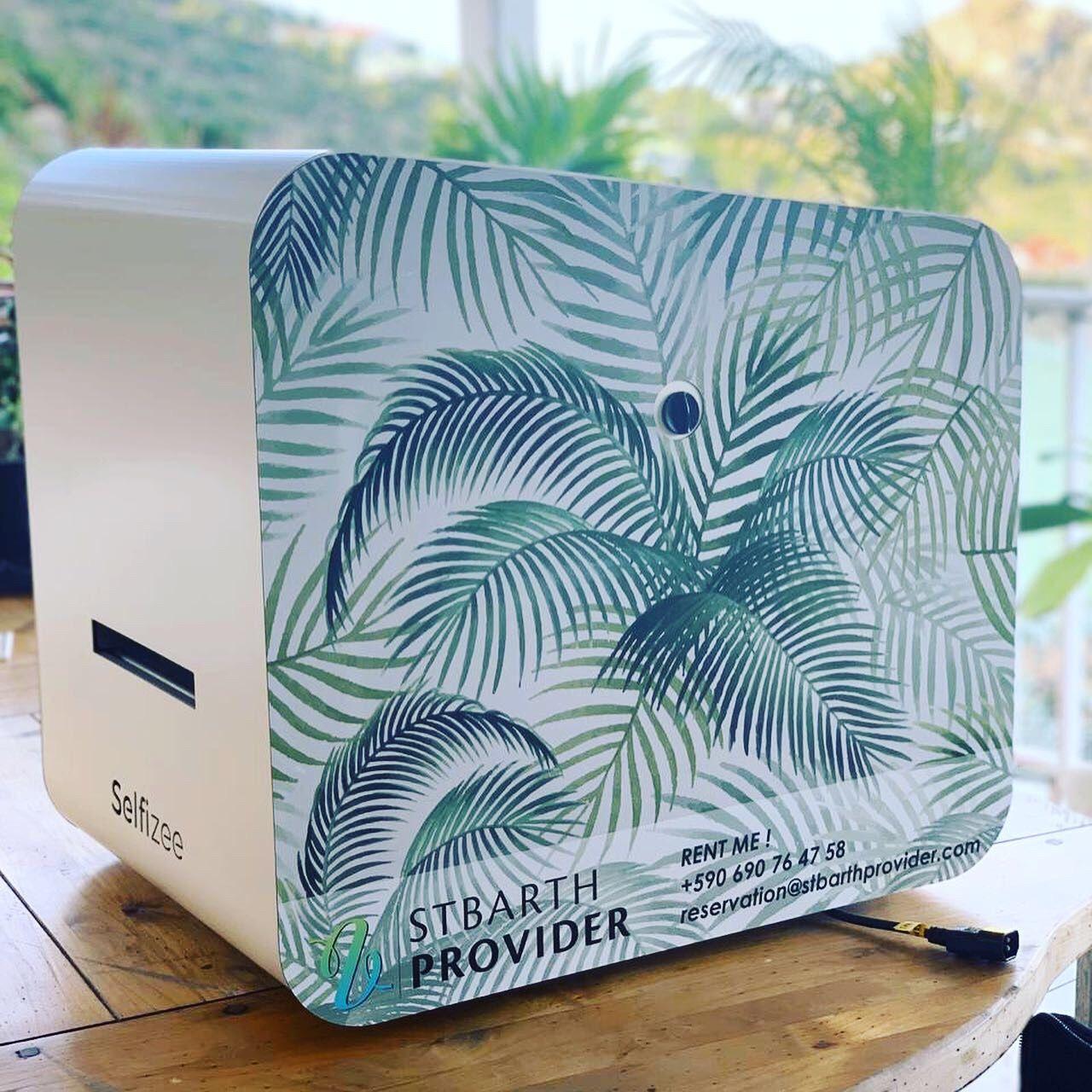 Photobooth personnalisé avec imprimante pour animation à Saint Barthélemy