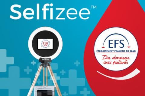 Animations bornes photos pour la campagne de don du sang avec Selfizee en région PACA