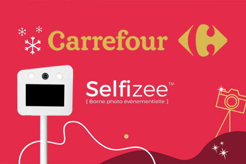 borne photo selfie Carrefour, Noël 2020