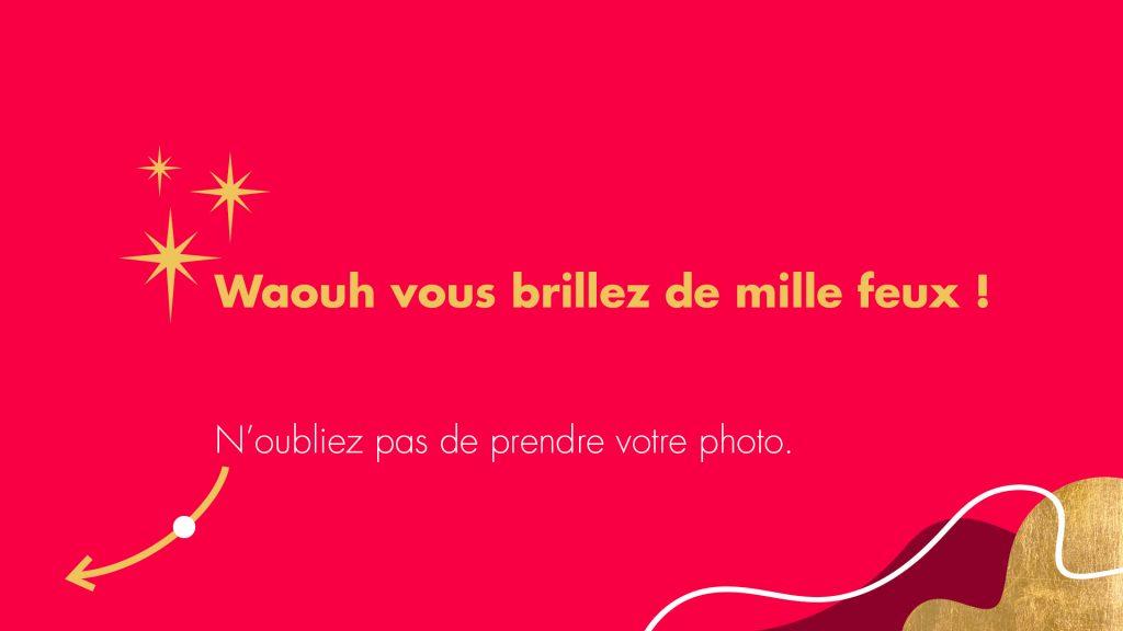 Remerciement borne photo selfie Carrefour, Noël 2020