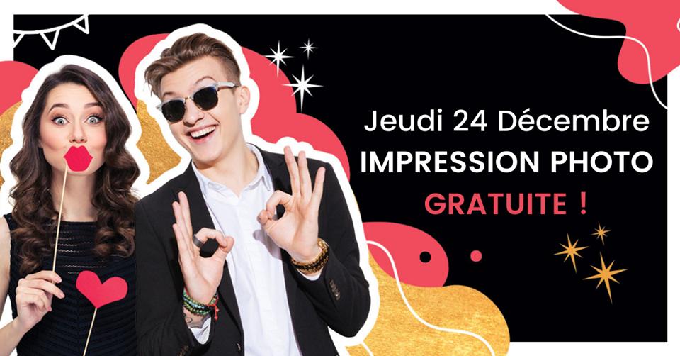 Impression gratuite borne photo selfie, Carrefour France
