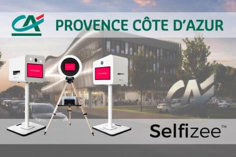 Vente de 3 bornes photos selfie pour le Crédit Agricole de Provence Côte d'Azur en région PACA
