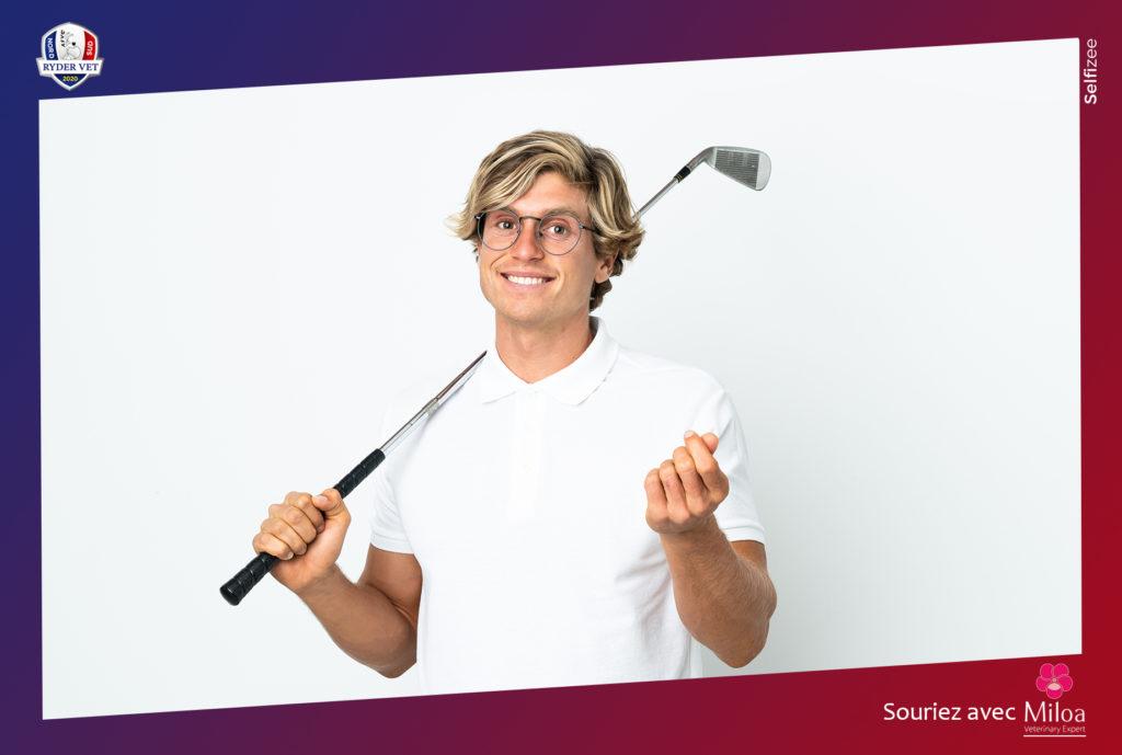 Cadre borne photo selfie pour le tournoi de Golf de la Ryder Vet à Saint-Tropez (83), PACA