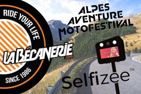 Animation fond vert pour La Bécanerie à l'Alpes Aventure Motofestival à Barcelonnette, PACA