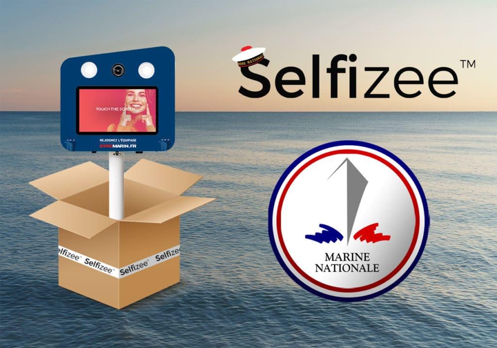 Vente de 8 bornes photos selfie Selfizee pour l'institution de la Marine Nationale