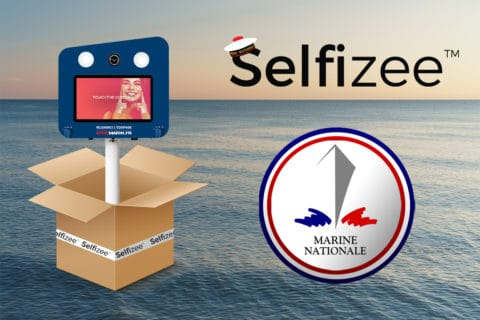 Vente de 8 bornes photos selfie Selfizee pour l'institution de la Marine Nationale