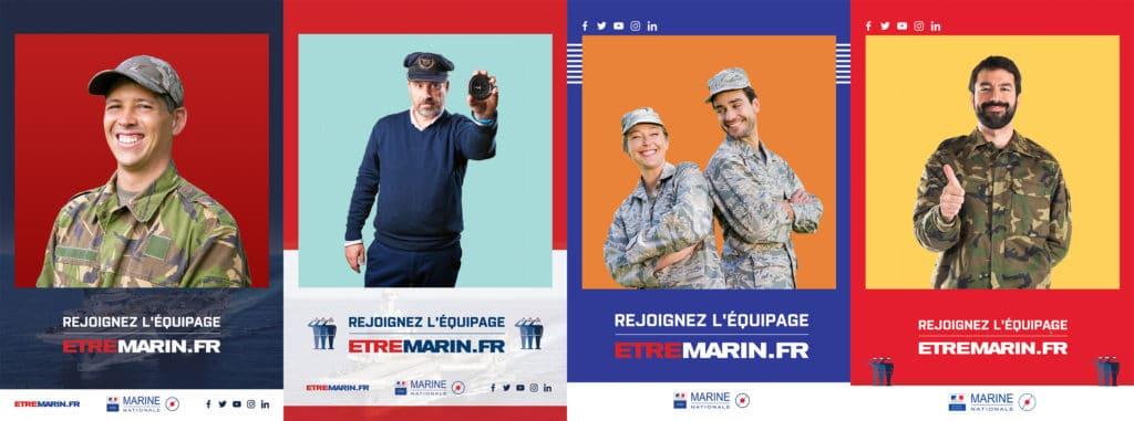 Cadres photos format polaroid pour animations Photobooth de la Marine Nationale