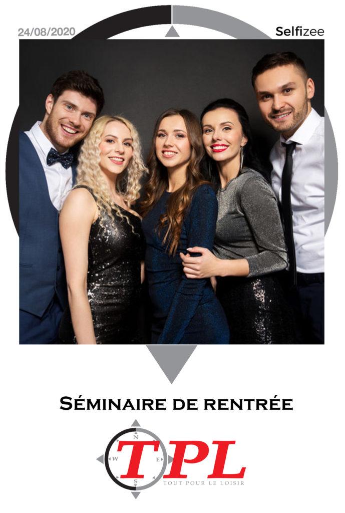Cadre polaroid pour une animation Photobooth dans le cadre du séminaire de rentrée de TPL à Narbonne (11), Occitanie